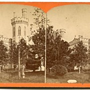 Syracuse, New York Renwick (Yates) Castle Stereoview by Gates