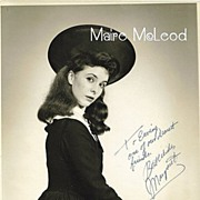 SALE Actress MARGARET O'BRIEN 40's Signed & Inscribed Photo
