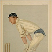 "SALE Original Vanity Fair Print - Oxford Cricket by Spy -Hylton ""Punch"" Philipson"