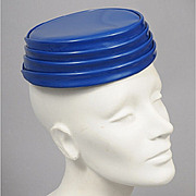 SALE Space Age 1960's Vinyl Tiered Toque Hat - Paris