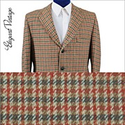 Vintage 60's Harris Tweed Check Men's Sport Coat - 3 Btn *42-44