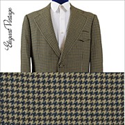 Men's 1970s Houndstooth Check Sport Coat *Hilton Hotel, Hong Kong *42+