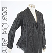 Bonwit Teller Victorian Womens Black Lace Jacket 1890's  *Exceptional *Grt Sz, Cond