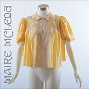 SALE Silk 1930's Lingerie Top Jacket * S-M