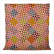Antique c1860 Mosaic Patch Quilt * Rare Pattern