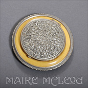SALE Rare F.J. Munster Deco 1930's Compact - Rhinestones, Enamel