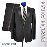 Vintage Rogers Peet  50s - 60s Tuxedo / Pants - 38 / 39