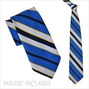 """SALE 1970's Yves Saint Laurent Men's Tie - Bright Colors 4"""""""