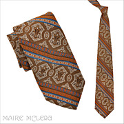 SALE Oleg Cassini 1970's Men's Tie - Elegant Print  4""