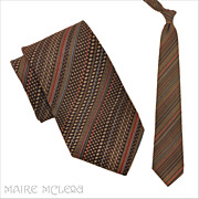 SALE 1970's Liebert Men's Tie - Grt Textile  4""
