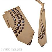 """SALE 1970's Tie // Vintage 70s Trompe L'Oeil  Tie 4"""""""