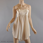 SALE 1920's Teddy/ Bra // RARE Silk All-in-One Bra / Chemise - Dorothy Bickman