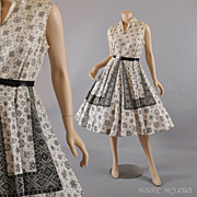 1950's Dress // Vintage 50's Sundress Dress - Circle Skirt -  M / L