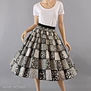 SALE Black & White 1950's Circle Skirt - Grt Size  M / L