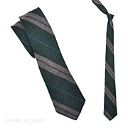 "SALE Vintage 1950's Unlined Repp Skinny Necktie 2-1/2"""