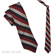 "SALE Van Heusen Mens Vintage 50s Repp Stripe Tie 2-1/2"""