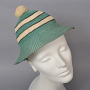 Vintage 1930s Knit Girl Scout Cap Hat