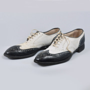 Vintage 1930s Hanans Hurdler Spectators Wingtip Shoes- Norman Vincent Peale