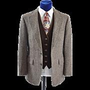 Men's Vintage Harris Tweed Sport Coat Jacket 41-42