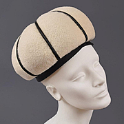1960s Onion Dome Toque Hat - André Paris, NY