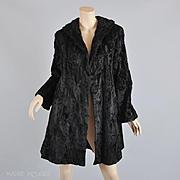1940s Broadtail Lamb Fur Swing Style Coat, IJ Fox  - STUNNING  S / M