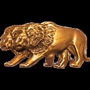 Huge 1980s Laloon Designer walking Lions Belt buckle
