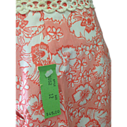 SALE Vintage never worn Lilly Pulitzer flower skirt with trim and original tags