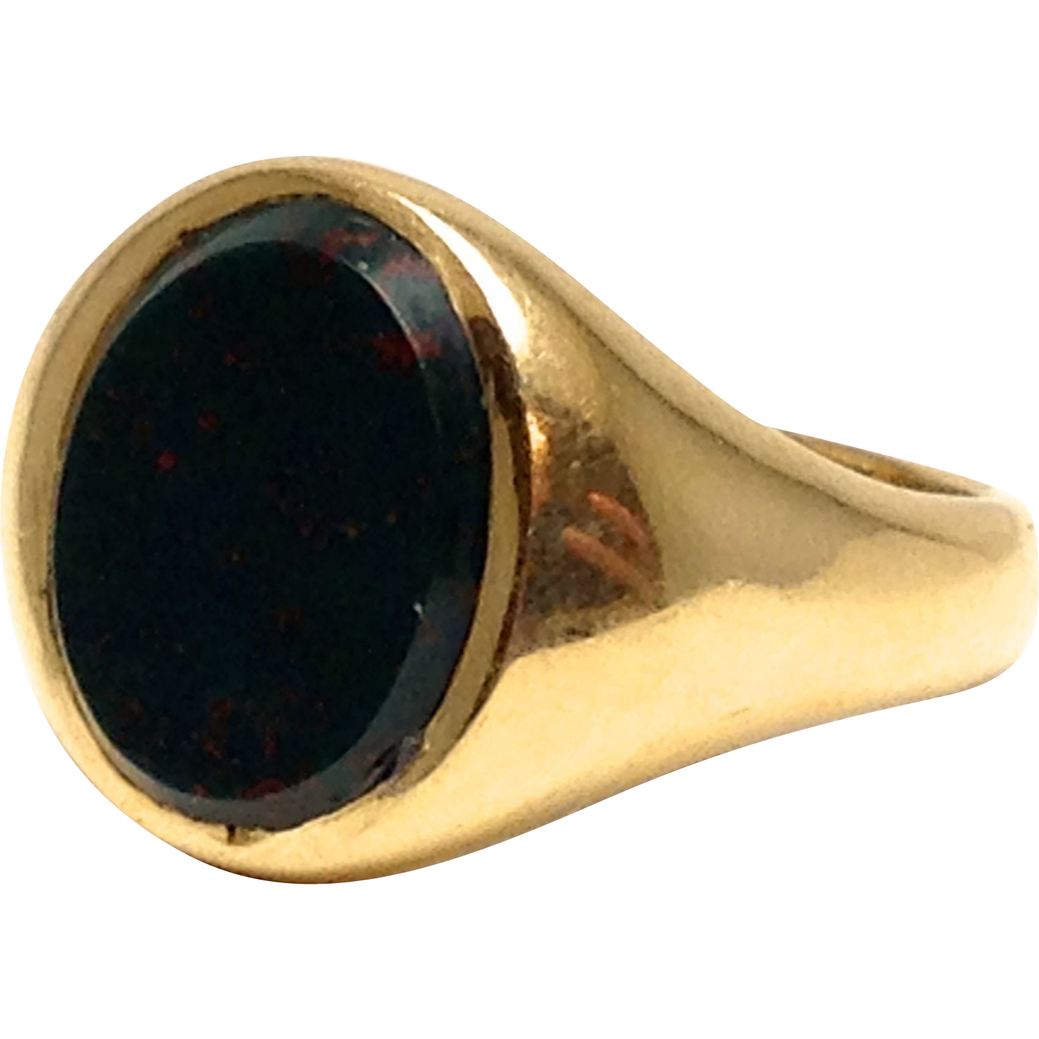 antique 14k larter brothers bloodstone signet ring s