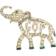 Vintage 1960s Republican Party GOP political elephant novelty brooch pin