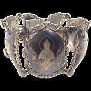SALE Stunning Ornate Vintage Siam Neilloware sterling silver Graduated bracelet