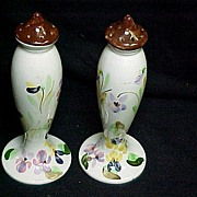 SOLD Blue Ridge China Tall Floral Spray Salt/Pepper Shakers