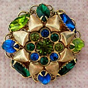 Large Domed Multi – Layered  Brooch