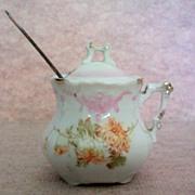German Porcelain Mustard / Jam Pot