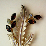 1/20 14K Gold Floral Brooch by A&Z