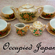 SOLD Child's Doll House Tea Set from Occupied Japan - Red Tag Sale Item