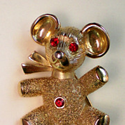 SALE Teddy Bear Pendant and Pin Combination