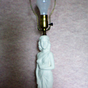 SALE Art Nouveau Statue of Lady ~ Figural Lamp