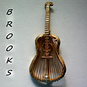 SALE Brooks Guitar with Harp Strings