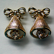 Christmas / Holiday Bells Clip Earrings