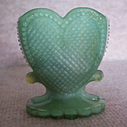 SOLD Heart Glass Toothpick Holder by Boyd