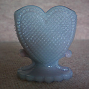 SOLD Boyd Glass Heart Toothpick Holder