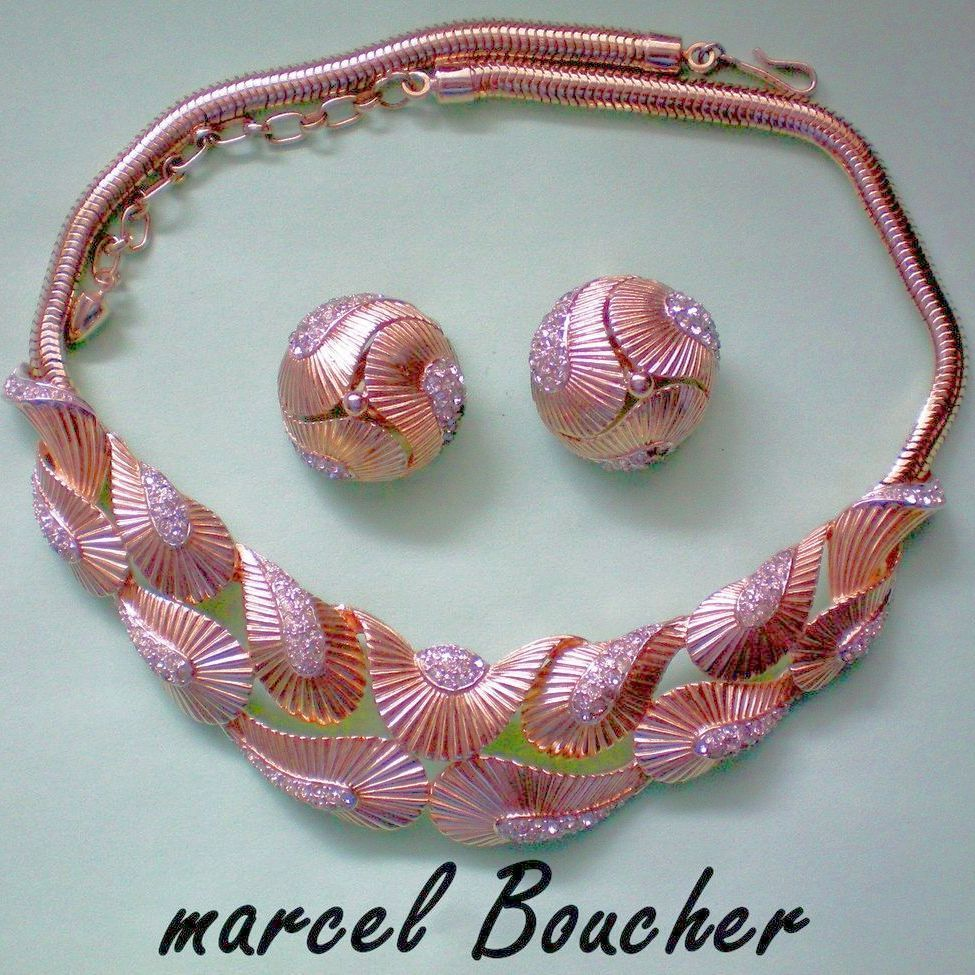 Marcel Boucher Necklace and Earrings in Original Box