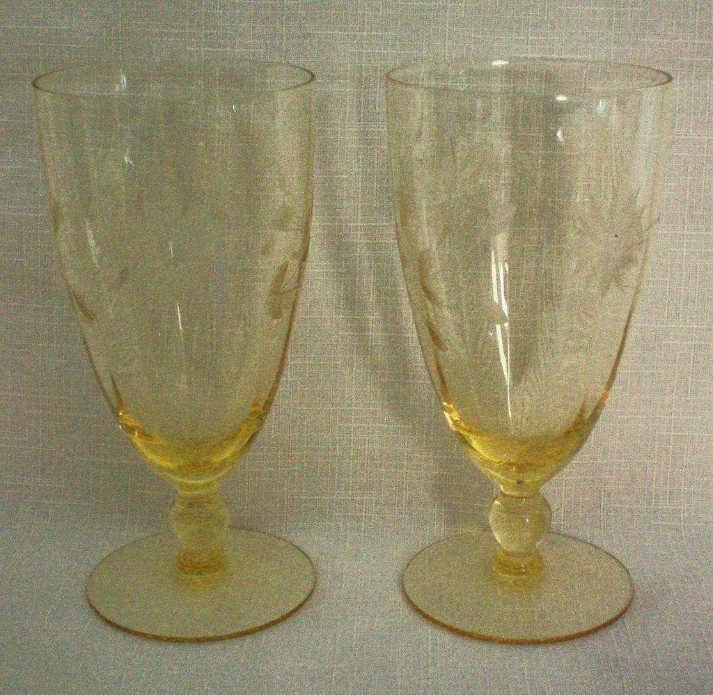 Lancaster Jubilee Depression Ice Tea Glass or Water Goblet