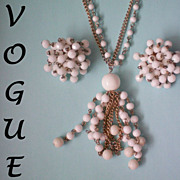 SALE Vogue Flapper Necklace & Cha Cha Earrings