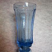 SOLD Indiana Glass Blue Vase / Urn