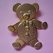 SALE Movable Teddy Bear Pin