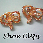 SALE Gold tone Shoe Clips