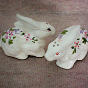SALE Easter Bunny Salt & Pepper Shakers - Hand Painted