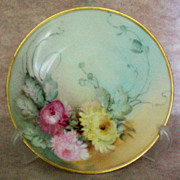 Hermann Ohme Silesia Hand Painted Floral Plate