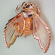 SALE Monet Wire Wing Bee Pin